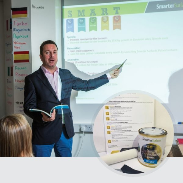 Smart-Projector-Paint-in-use-with-kit-on-display