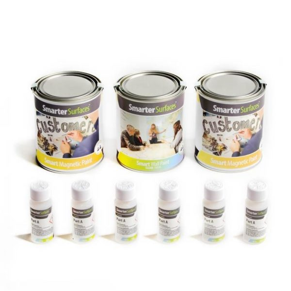Smart Magnetic Whiteboard Paint Clear tin