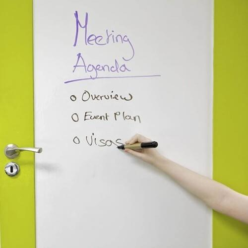 door coated in writable film Smart Self Adhesive Whiteboard Film