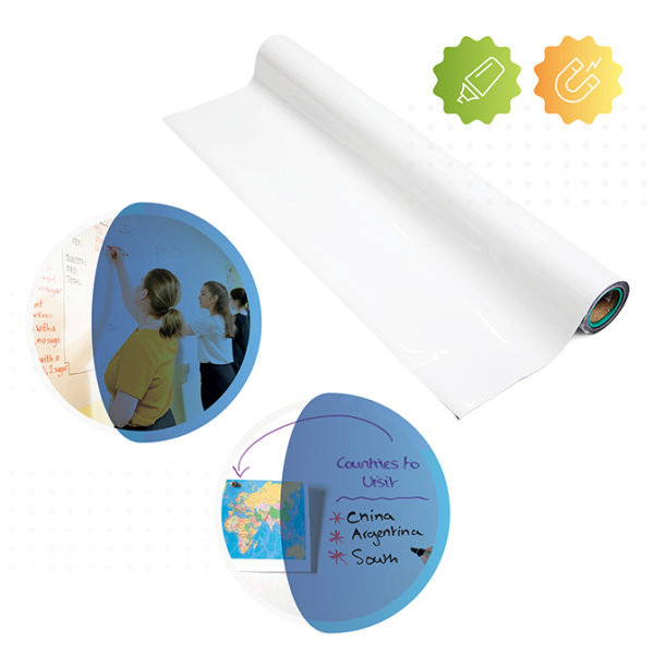 Roll of Smart Magnetic Whiteboard Wallpaper
