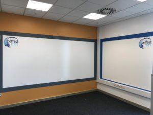 Belfast-Met-custom whiteboard-white